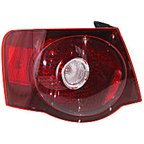 Driver Side, Outer Tail Light, With bulb(s) - Clear Lens, Sedan