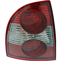 Sedan, Driver Side Tail Light, With bulb(s) - New Body Style, (Except W8 Model)