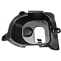 Front, Driver Side Bumper Trim, Textured Black