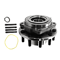 Wheel Hub and Bearing - Front, Driver or Passenger Side, 4 X 4, For Models with 4-Wheel ABS