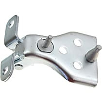 Door Hinge - Front, Passenger Side, Upper, Chrome, Direct Fit, Sold individually