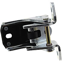 Door Hinge - Front, Driver or Passenger Side, Lower, Chrome, Direct Fit, Sold individually