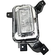 Passenger Side Driving Light, With bulb(s)