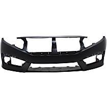 Bumper Cover - Front, 1 Piece, Primed, CAPA Certified