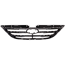 Grille Assembly - Textured Black Shell and Insert, Except Hybrid Model, with Type 2 Bumper