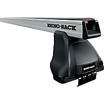 Rhino-Rack JA0218 Roof Rack - Powdercoated Silver, Aluminum Alloy, Direct Fit, Set of 2