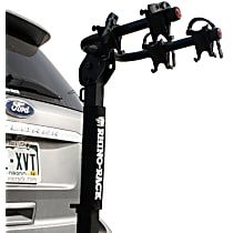 Bike Rack - Powdercoated Black, Steel, Hitch mount, Universal, Sold individually