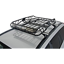 Rhino-Rack RMCB01 Cargo Basket - Powdercoated Black, Steel, Universal, Set of 2