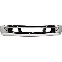 Bumper - Front, Chrome, with Small Tow Hook Hole