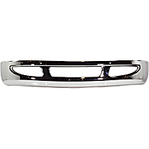 Bumper - Front, Chrome, with Large Tow Hook Hole
