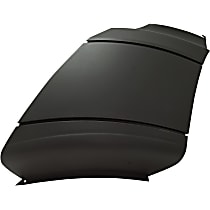 Driver Side Plastic Bumper End, Painted Black