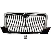 Grille Assembly - Chrome Shell and Insert, Redesign Vertical Bar Insert, without Bug Screen