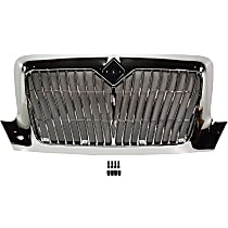 Grille Assembly - Chrome Shell and Insert, Redesign Vertical Bar Insert, with Bug Screen