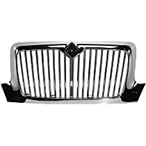 Grille Assembly - Chrome Shell and Insert, Vertical Bar Insert, without Bug Screen