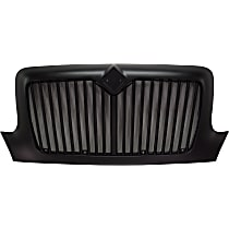 Grille Assembly - Painted Black Shell and Insert, Vertical Bar Insert, without Bug Screen