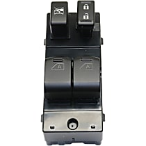 Window Switch - Front, Driver Side, Black, 4-Button