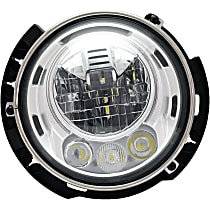 Passenger Side LED Headlight, With bulb(s)