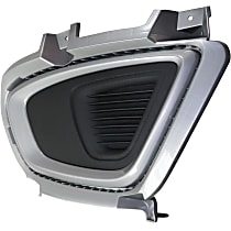 Driver Side Fog Light Cover, Dark Gray