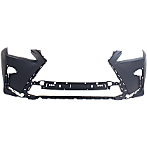 Front Bumper Cover, Primed - w/o Park Sensor & Headlight Washer Holes