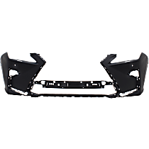 Front Bumper Cover, Primed - w/ HL Washer Holes, w/ Parking Aid Snsr Holes