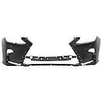 Front Bumper Cover, Primed - w/ HL Washer Holes, w/ Parking Aid Snsr Holes, CAPA CERTIFIED