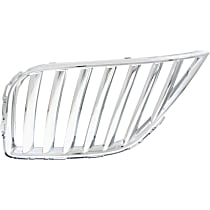 Grille Assembly - Chrome Shell and Insert, Driver Side, Radiator Grille