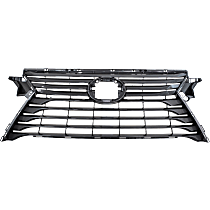 Grille Assembly - Dark Gray Shell and Insert, without F Sport Package, without Front View Camera