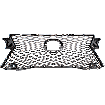 Grille Assembly - Dark Gray Shell and Insert, without Front View Camera, with Parking Aid Sensor, F Sport Model