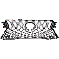 Grille Assembly - Dark Gray Shell and Insert, with F Sport Package, without Front View Camera, with Parking Aid Sensor