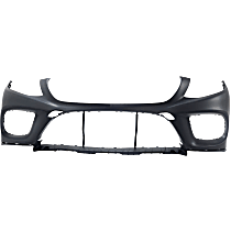 Bumper Cover - Front, 1 Piece, Primed, For Coupe, Models Without Active Park Assist