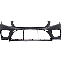 Bumper Cover - Front, 1 Piece, Primed, For Coupe, Models With Active Park Assist