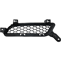 Grille Assembly - Textured Black Shell and Insert, Passenger Side, Except Evolution Model