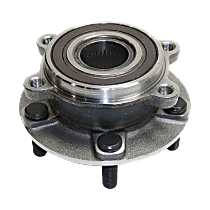 Front Wheel Bearing and Hub Assembly, Driver or Passenger Side