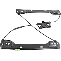 Front, Driver Side Power Window Regulator, Without Motor and Panel