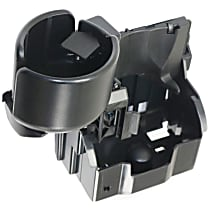 Cup Holder - Black, Plastic, Direct Fit, Sold individually