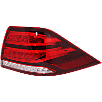 Passenger Side, Outer Tail Light, With bulb(s)