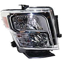 Larson Electronics 1015P9IE5E4 -Black Passenger Side with Install kit 2004 Nissan Murano-RHD Post Mount Spotlight 100W Halogen 6 inch