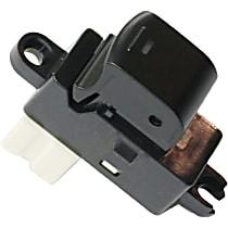 Window Switch - Rear, Driver or Passenger Side, Black