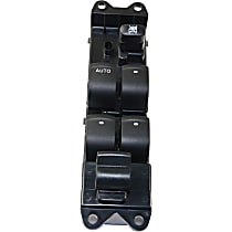 Window Switch - Front, Driver Side, Black