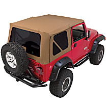 CT20437T RT Off-Road Complete Tan Vinyl Coated Polyester and Cotton Soft Top - With Frame (Frame Included)