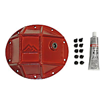 RT20025 Differential Cover - Powdercoated red, Steel, Direct Fit, Sold individually