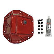 RT20026 Differential Cover - Powdercoated red, Steel, Direct Fit, Sold individually