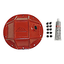 RT20027 Differential Cover - Powdercoated red, Steel, Direct Fit, Sold individually