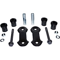 RT21048 Leaf Spring Shackles and Hangers - Black, Steel, Direct Fit, Sold individually