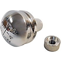 Shift Knob - Polished, Aluminum, Round, Direct Fit, Sold individually