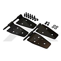 RT26003 Door Hinge - Front, Black, Steel, Direct Fit, Set of 4