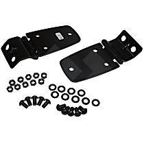 RT26045 Door Hinge - Black, Steel, Direct Fit, Set of 2