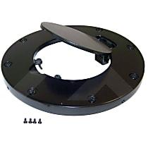 RT26053 Fuel Door - Black, Aluminum, Direct Fit, Sold individually
