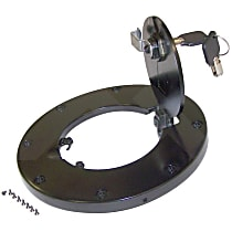 RT26054 Fuel Door - Black, Aluminum, Direct Fit, Sold individually
