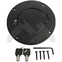 RT Off-Road RT26082 Fuel Door - Black, Aluminum, Direct Fit, Sold individually